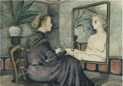 Delvaux-paul-1897-1994-belgium-femme-au-miroir-2001933