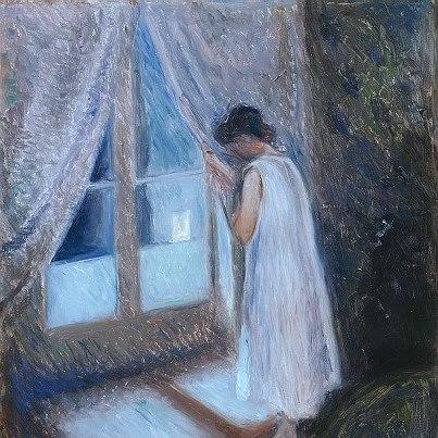 Munch jene fille a la fenetre 1893