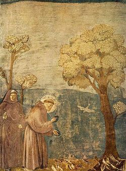 350px-Giotto_-_Legend_of_St_Francis_-_-15-_-_Sermon_to_the_Birds
